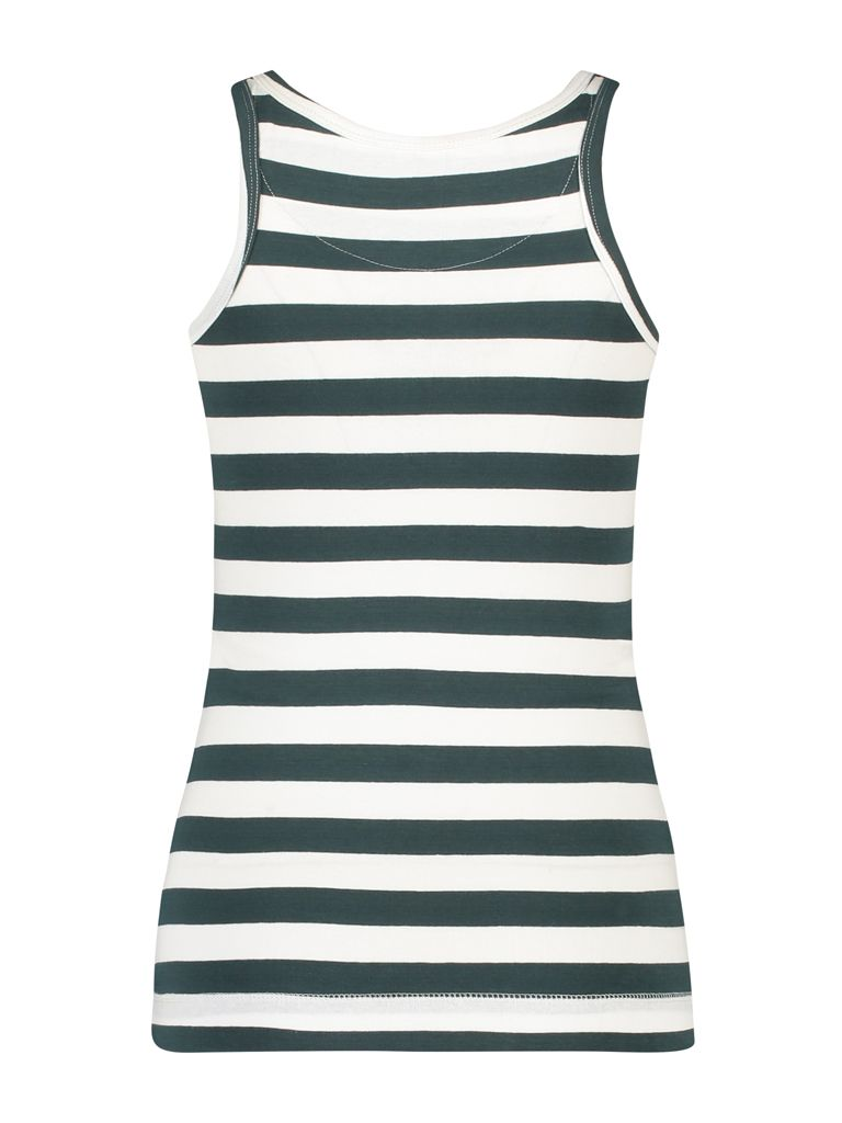 | Singlet Jersey Stripe Dark Green White