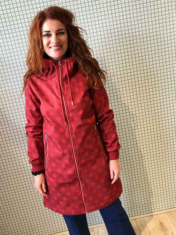 Jane Softshell Dark Red/Red DOT
