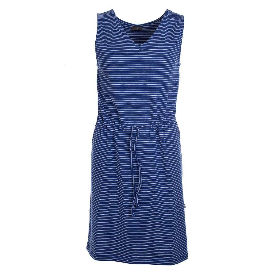 Dress Monica Stripes Hip Blue Jersey Cotton