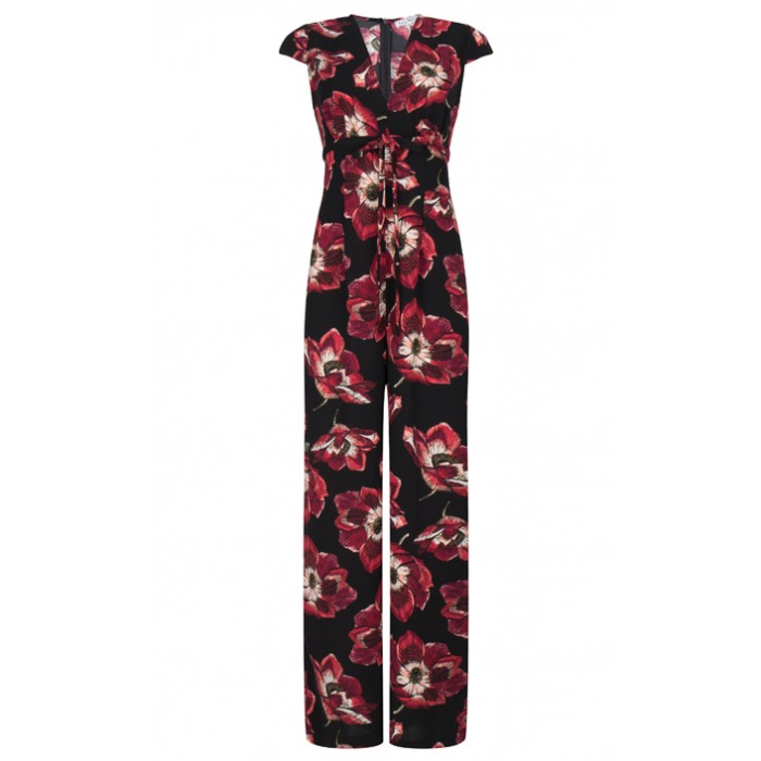 Venice JumpsuitGioia Red Flowers