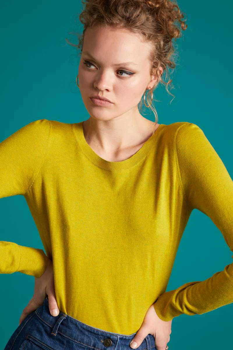 Agnes Top Cocoon Spring Yellow