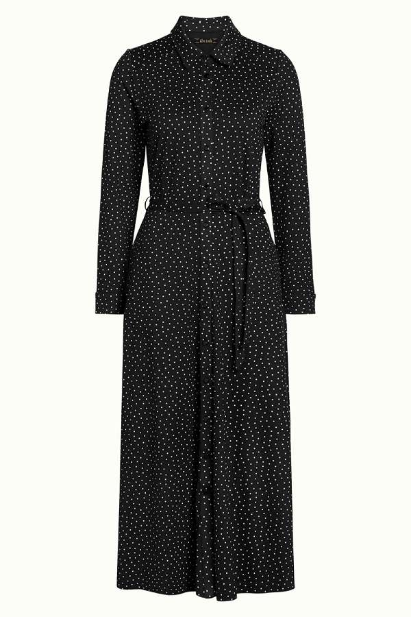 Olive Midi Dress Little Dots Black