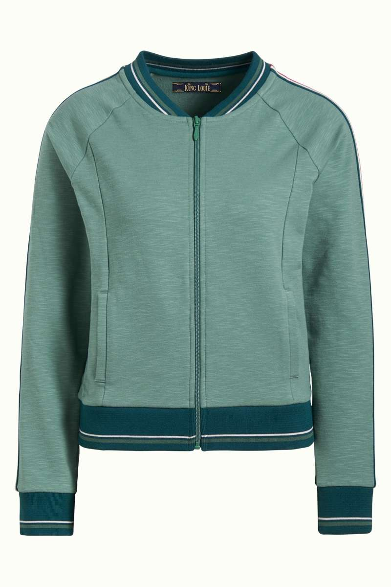 Baseball Jacket Slub Sweat Fir Green