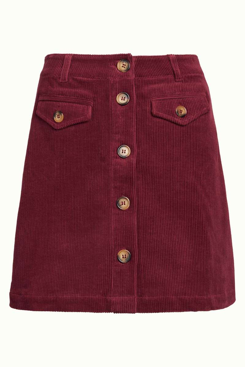 Caroll Mini Skirt Colonne Cherise Red