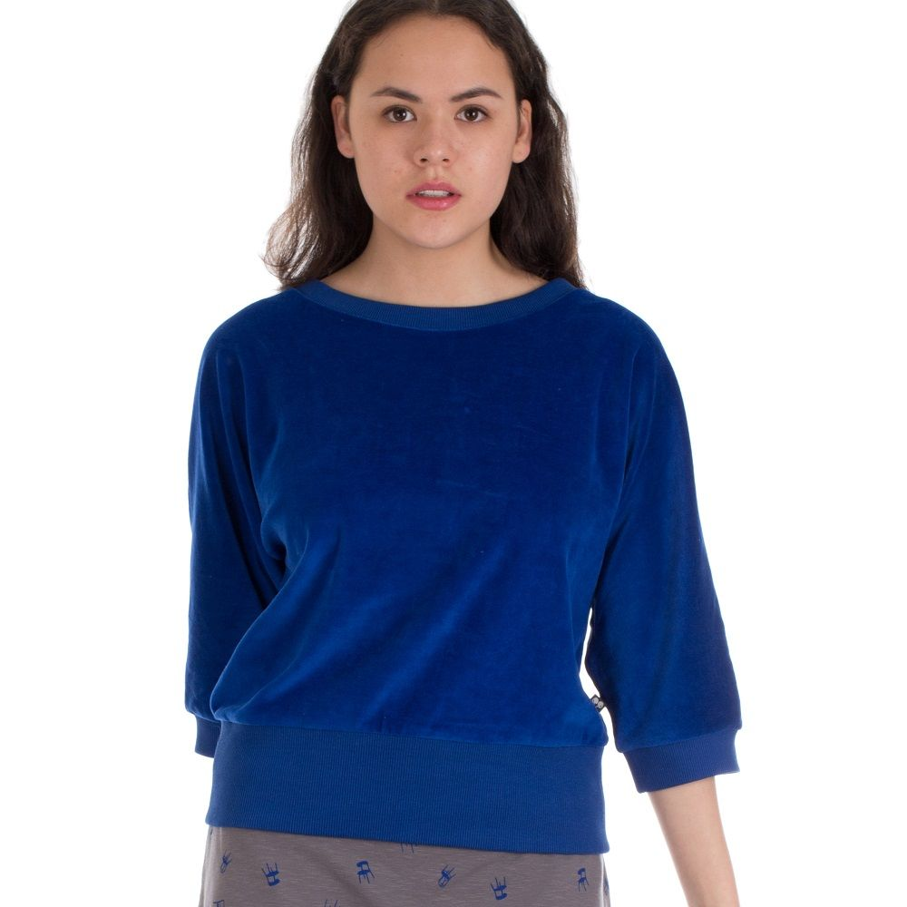 Sweater Sybille Hip Blue Velours