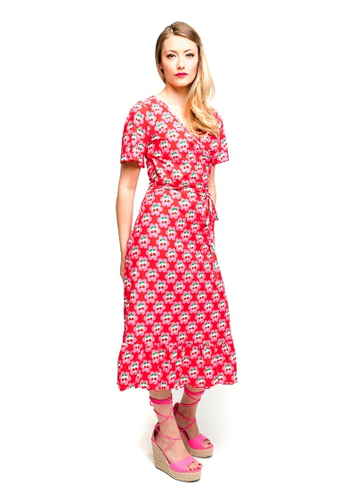 Hippie Dress Cherrie In Blossom Red