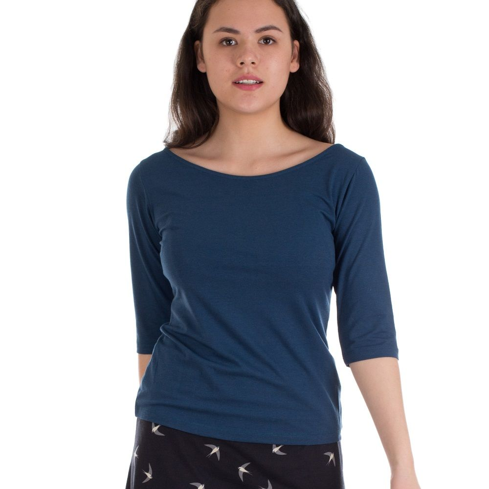 Shirt Lina Night Blue Bamboo