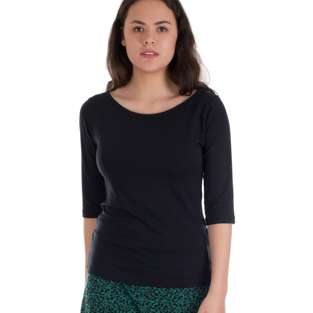 Shirt Lina Black Tencel