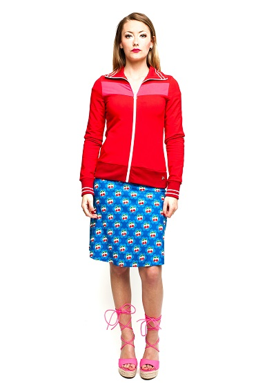 Sporty Jacket Solid Red
