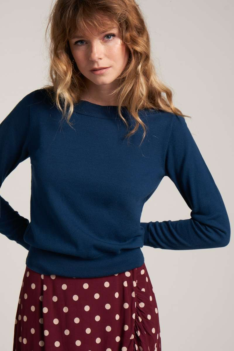 Audrey Top Cottonclub Autumn Blue
