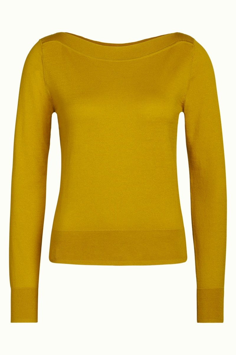 Audrey Top Cottonclub Curry Yellow