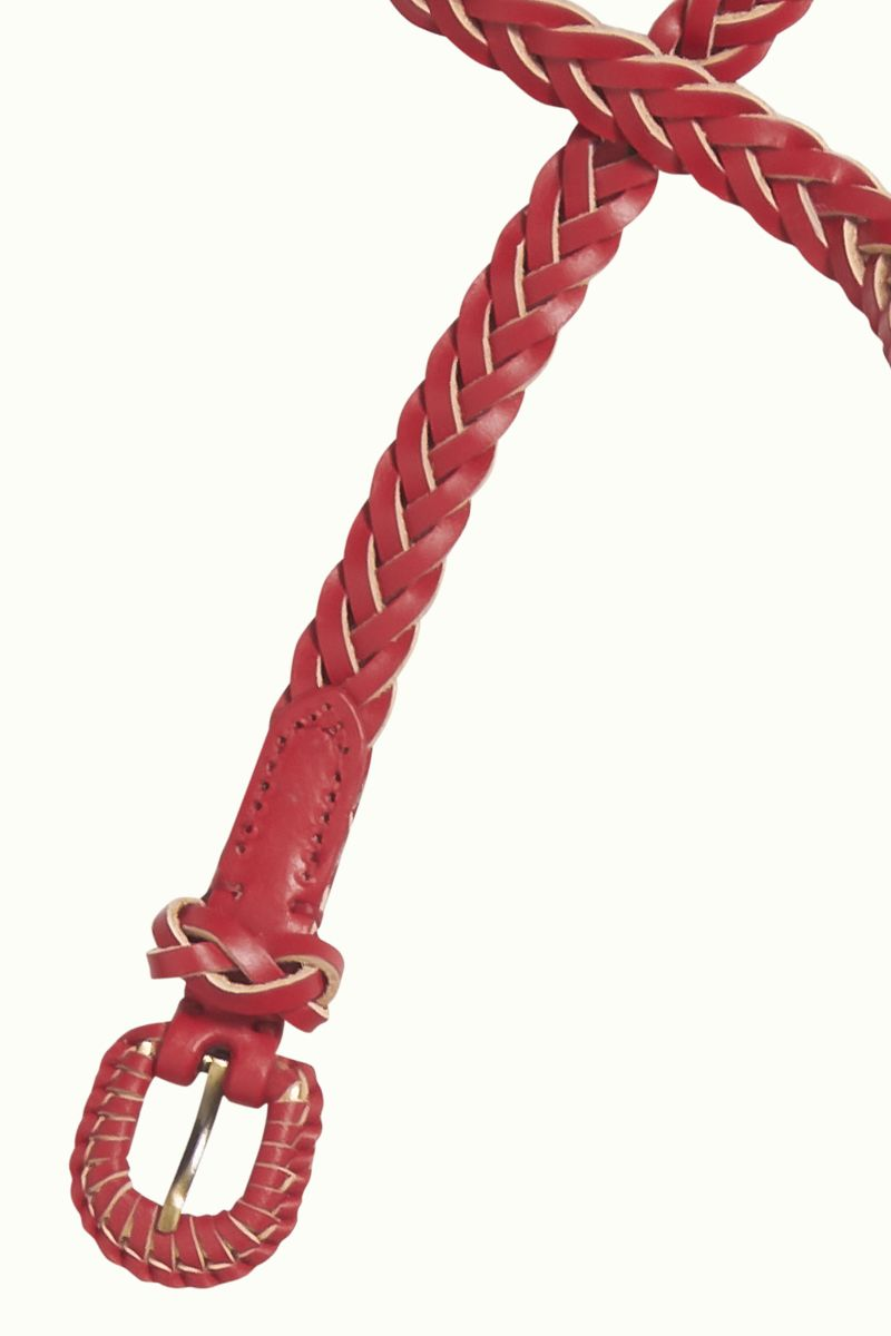 Braidy Belt Chili Red