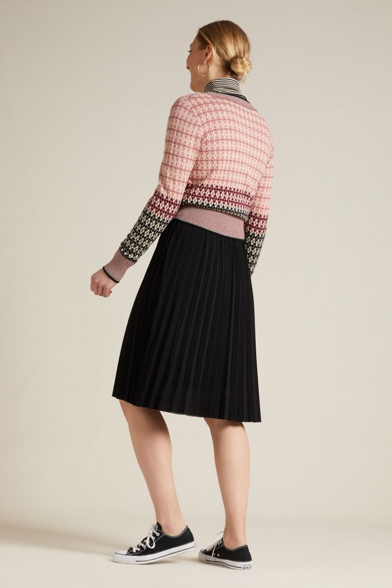 Border Plisse Skirt Uni Plisoley Black