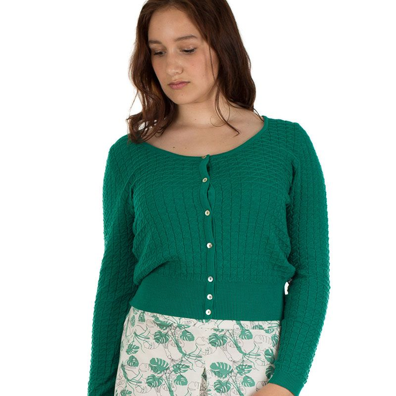 Esther cardigan Green