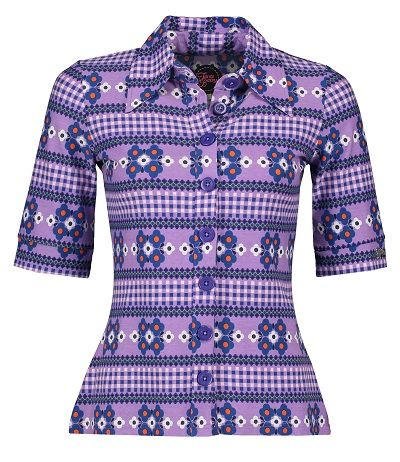 Button Shirt Scandi Purple