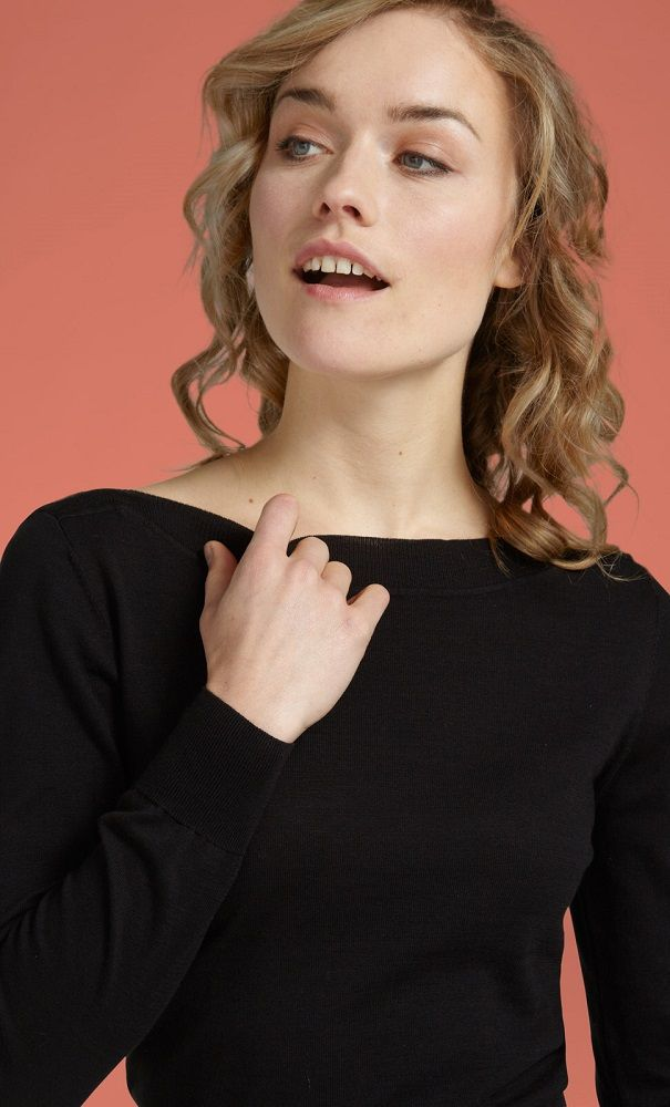 Audrey Top Cottonclub Black