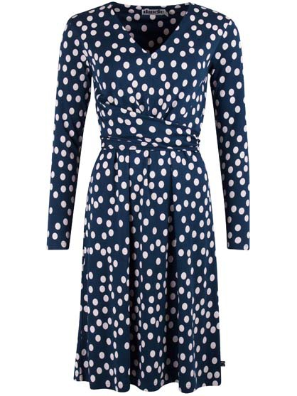 Valborg Dress Deep Ocean Chalk Fun Dots