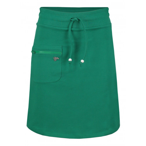 Skirt Zipper Solid Green