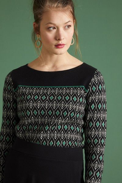 Bella Knit Top Taboo Black
