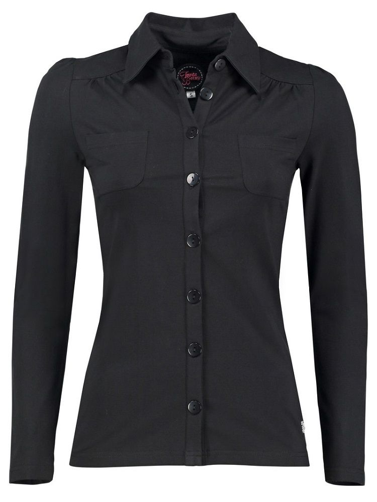 Blouse Betsy Solid Jersey Black