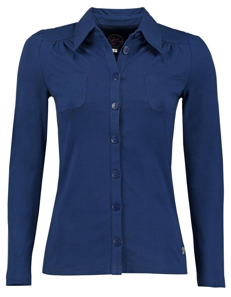 Blouse Betsy Solid Jersey Blue