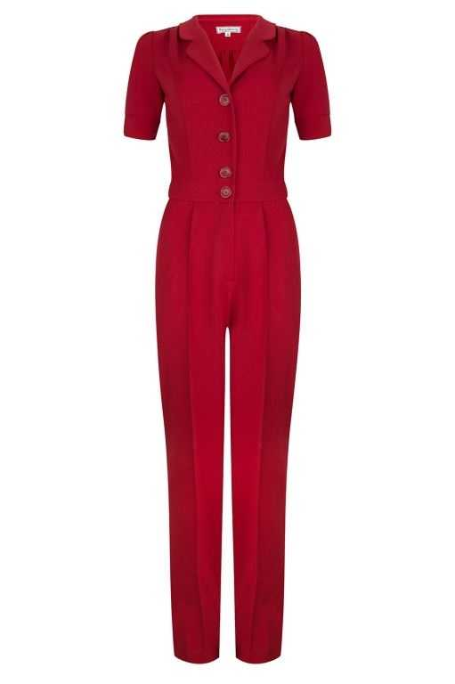 Classic Jumpsuit Deep Red