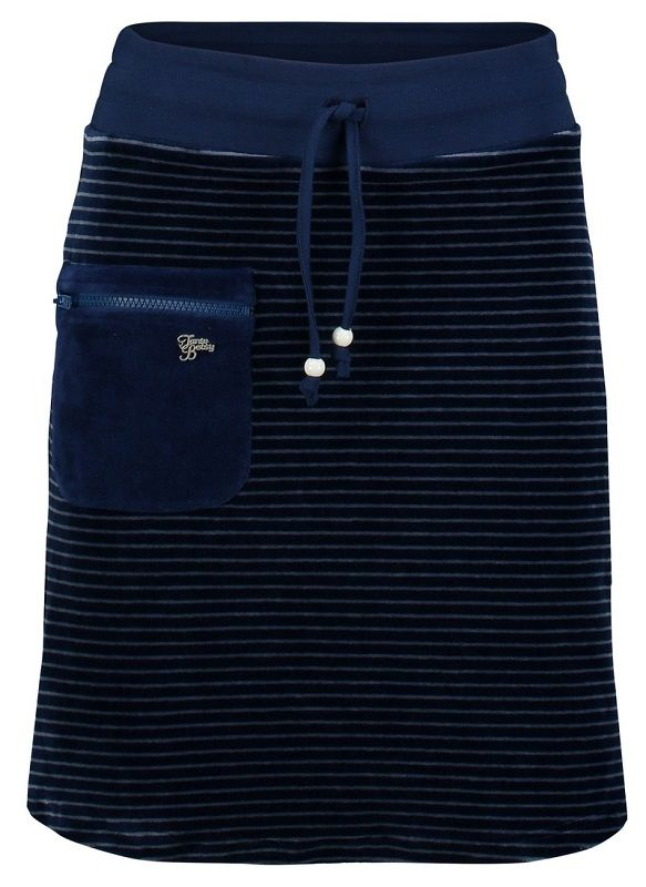 Zipper Skirt Nicky Velours Stripe Blue