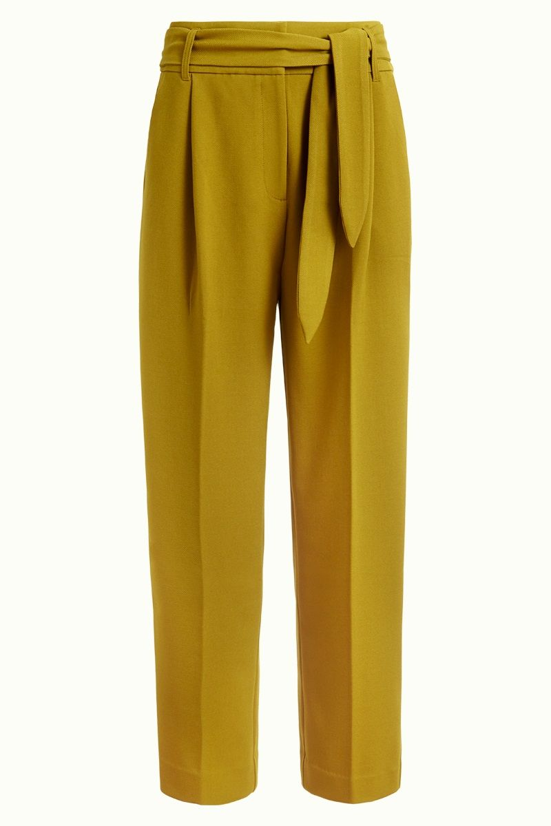 Ava Pants Tuillerie Chatreuse Yellow