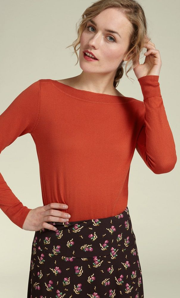 Audrey Top Cottonclub Clay Red