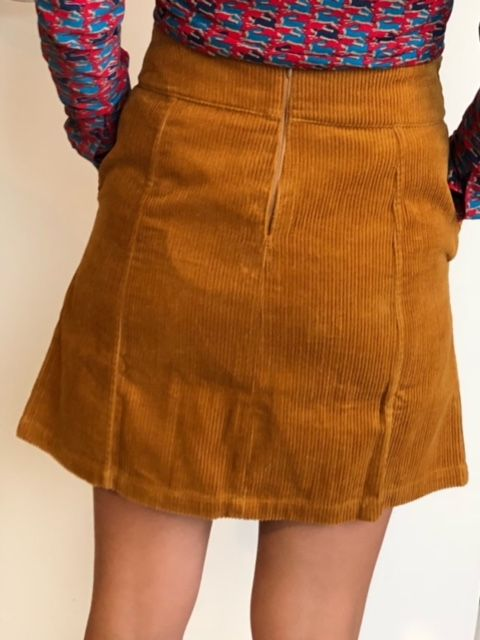 Skirt Corduroy Solid Bronze
