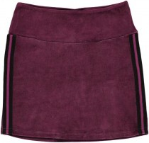 Velour Skirt Solid Aubergine