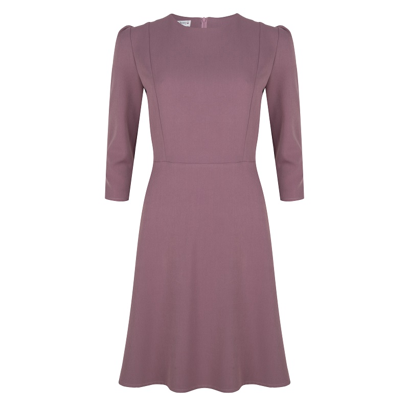 Long Sleeve Dress Lila Gabardine