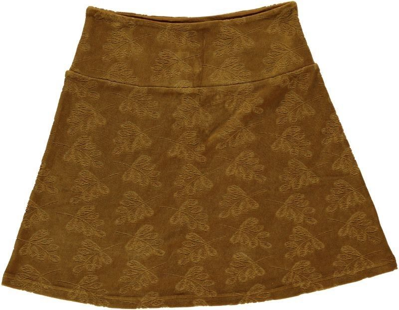 Skirt Leaf Velour Solid Bronze