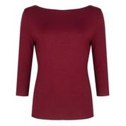 Boatneck Top Burgundy Soft Brushed Viscose