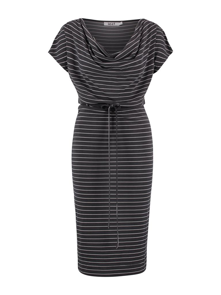 Dress Drapery Modal Dark Grey Stripe