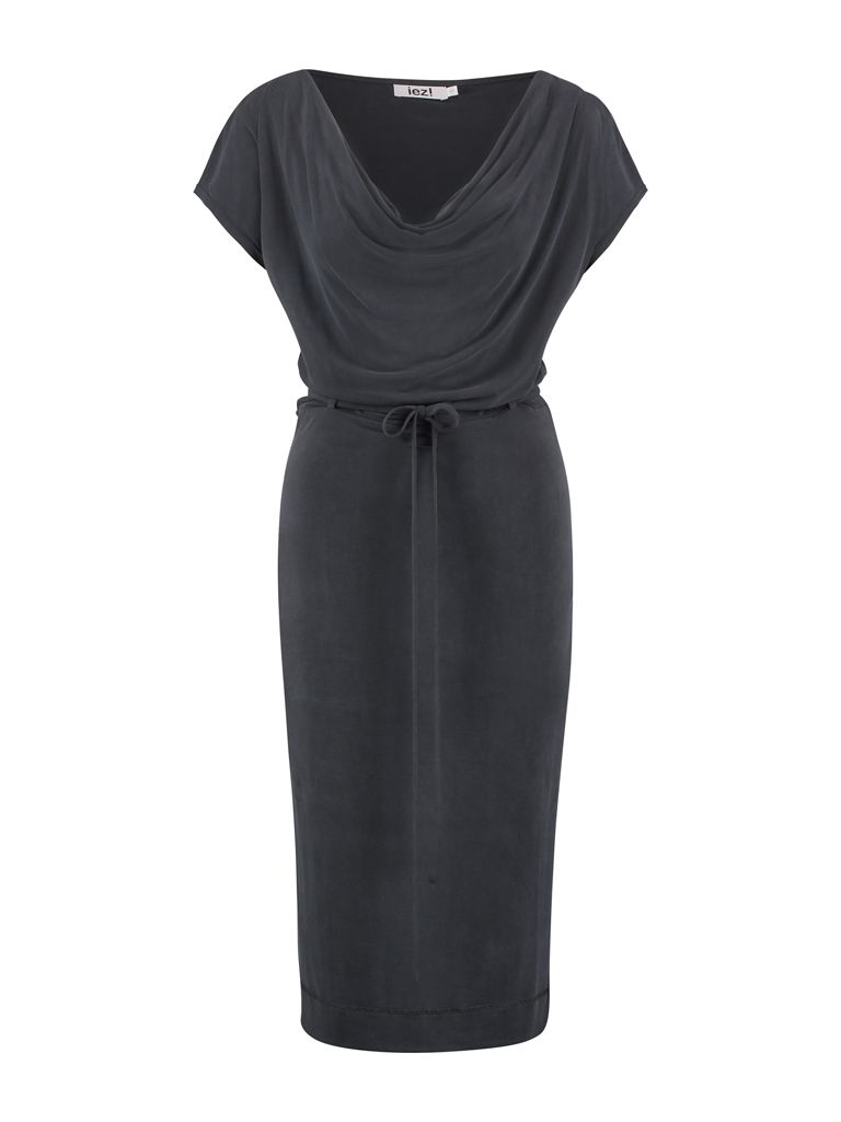 Dress Drapery Modal Dark Grey