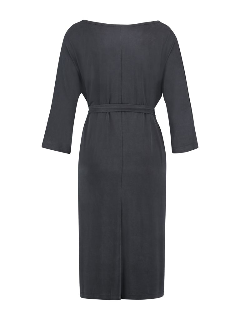 Dress Long Modal Dark Grey