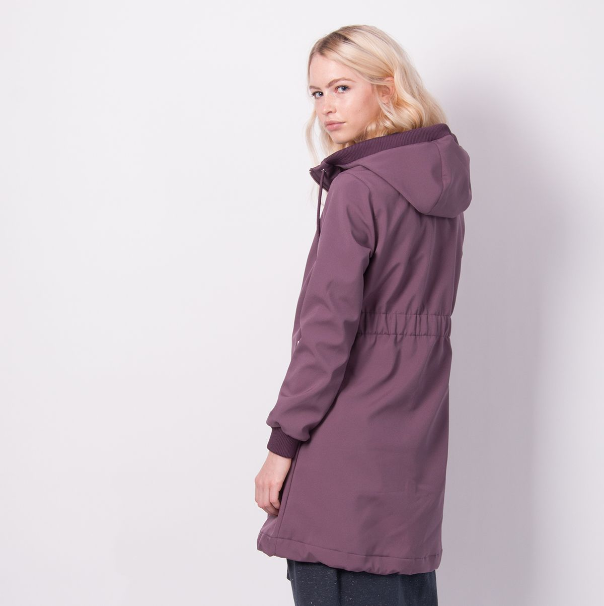 Jane Softshell Grey Plum