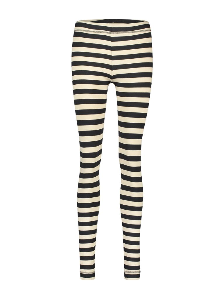 Legging Jersey Stripe Black Camel
