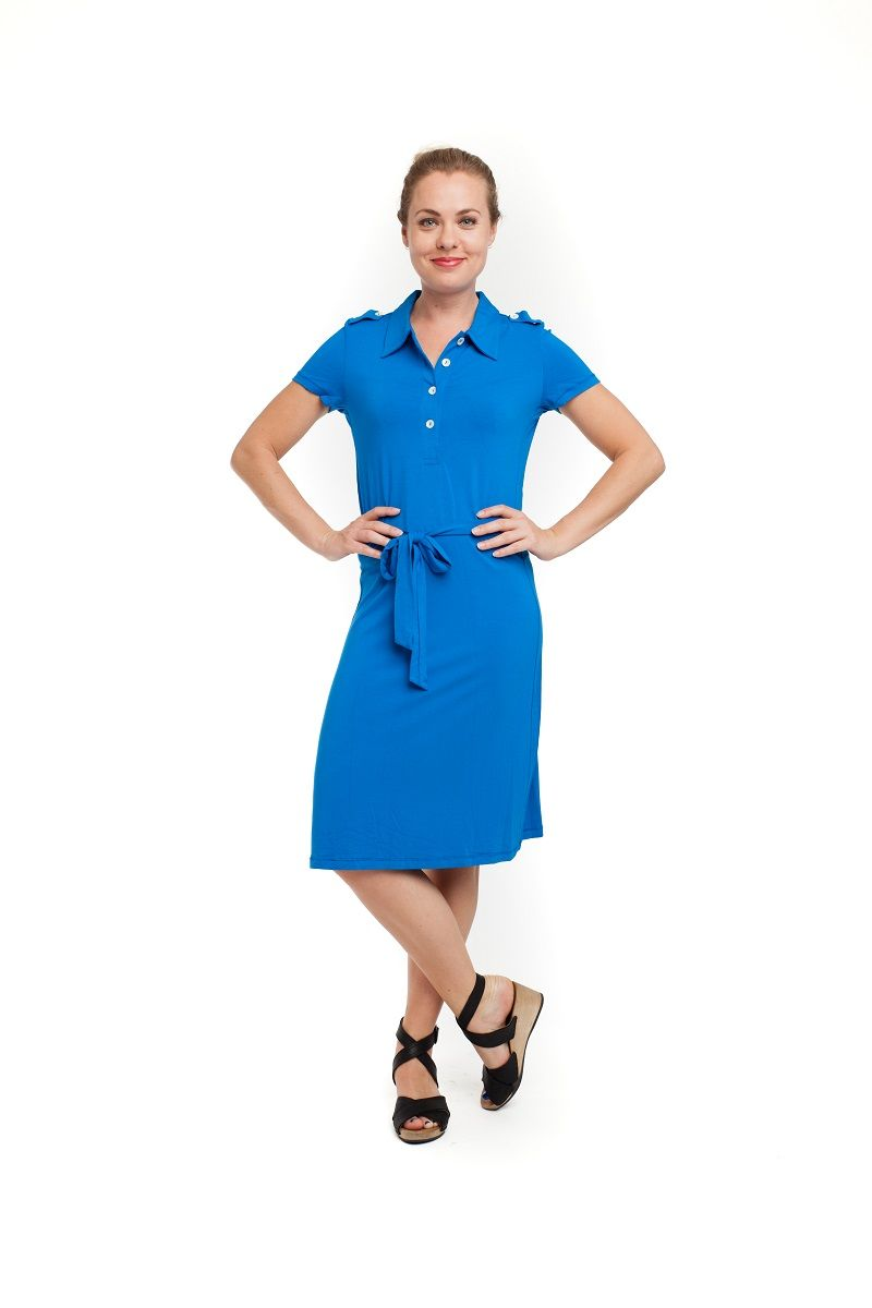 Polo Dress Kobalt
