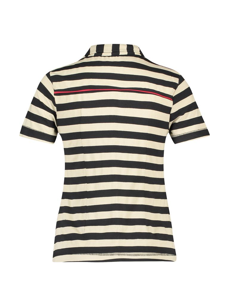Shirt Jersey Stripe Black Camel