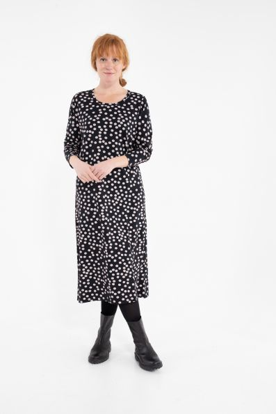 Casilda Dress Black/Beige Fun