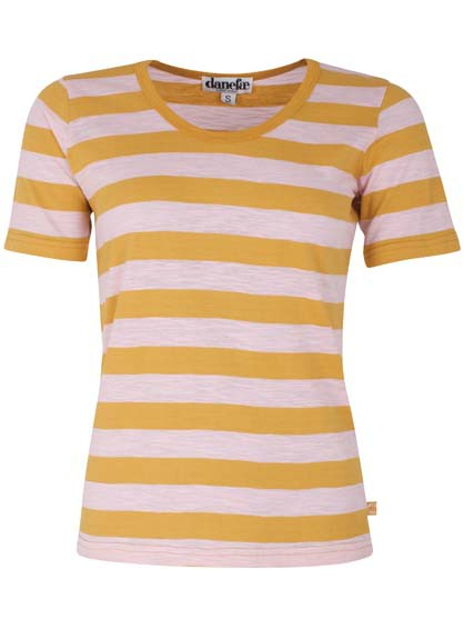 Scoop Neck Tee Light Amber/Cute Pink