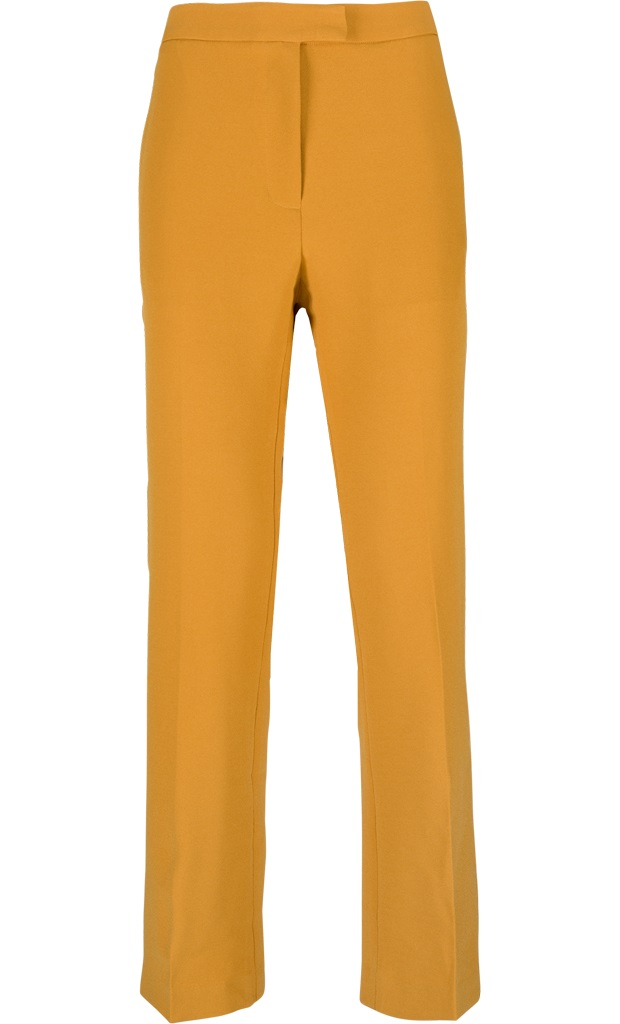 Luz Cropped Pants Heavy Polyester Crepe