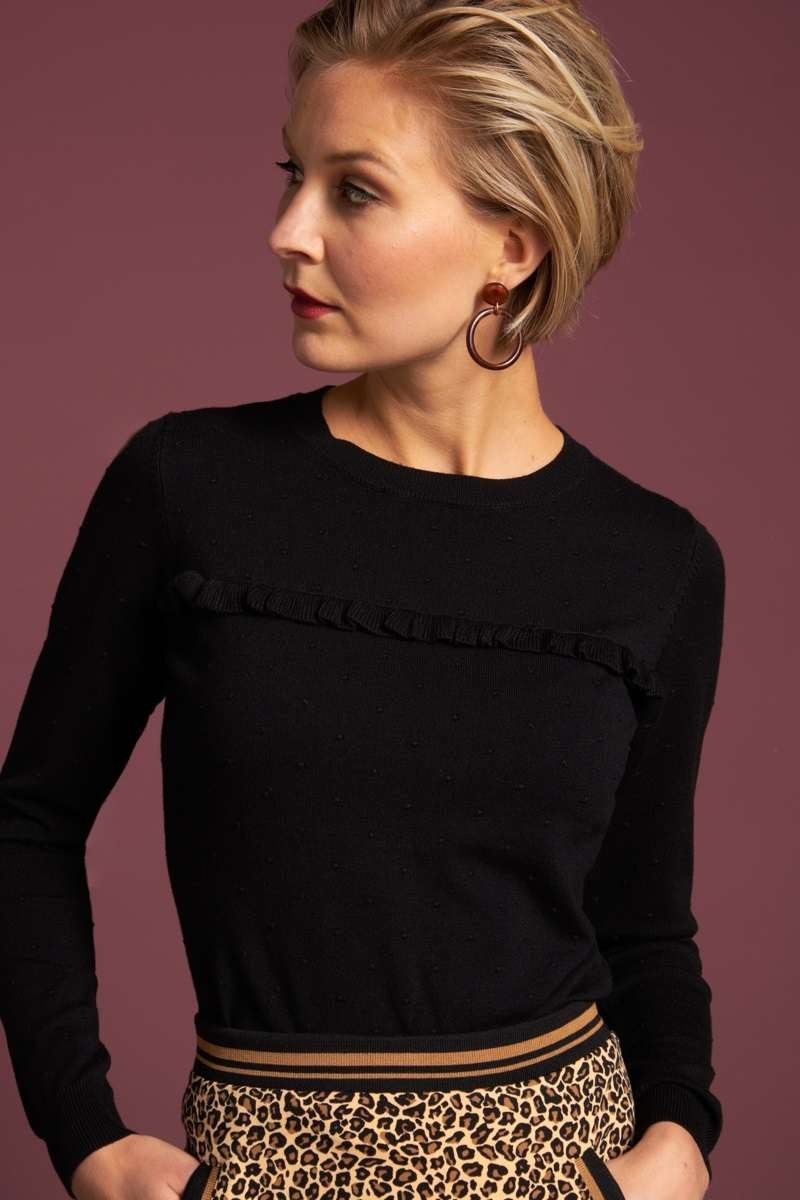Ruffle Top Droplet Black