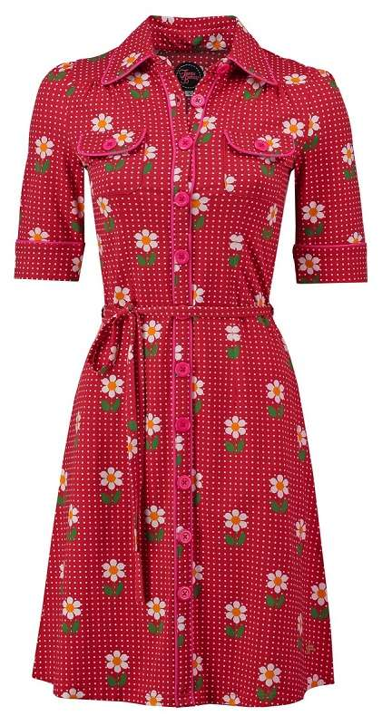 | Dress Besty Daisy Dot Red