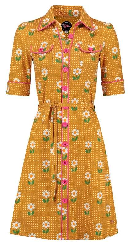 Dress Besty Daisy Dot Gold