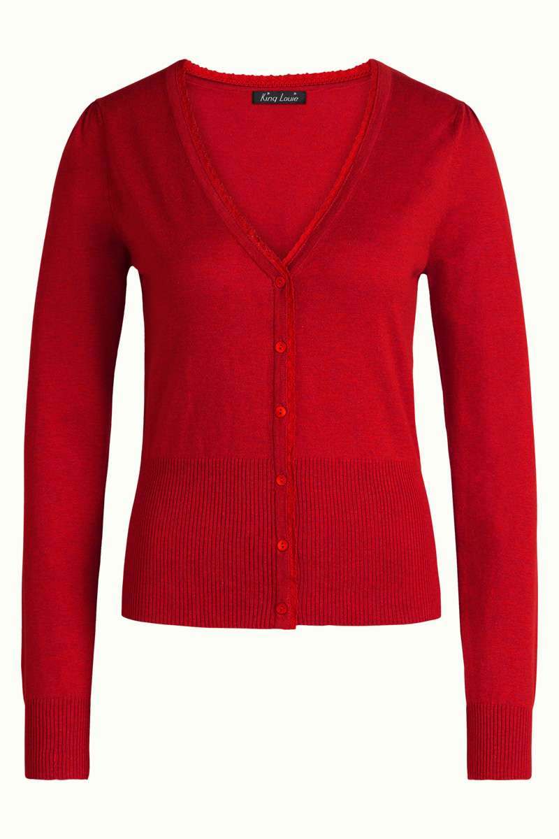 Cardi V Cocoon Icon Red