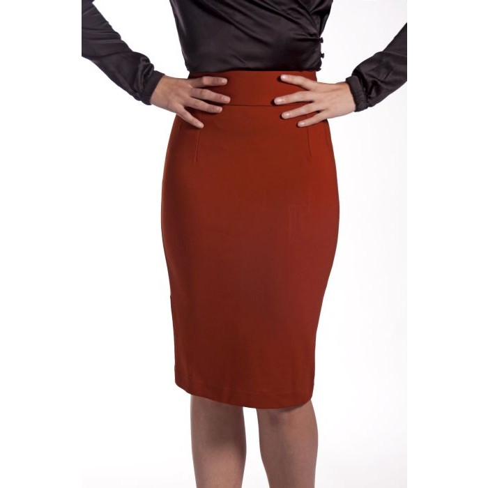 Pencil Skirt Rust