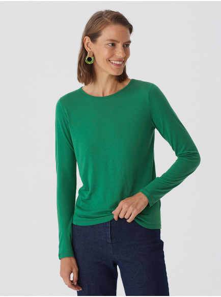Wool Basic T Shirt Willow Green
